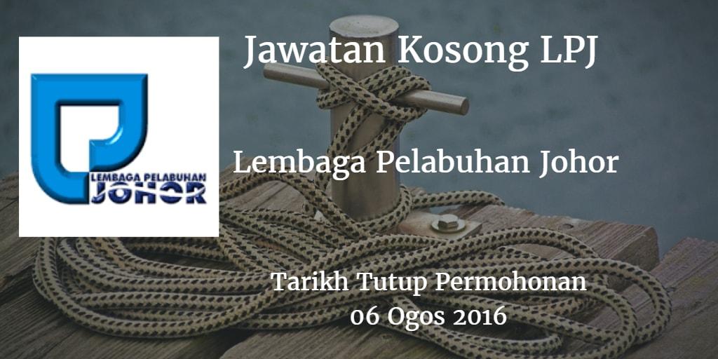 Jawatan Kosong LPJ 06 Ogos 2016
