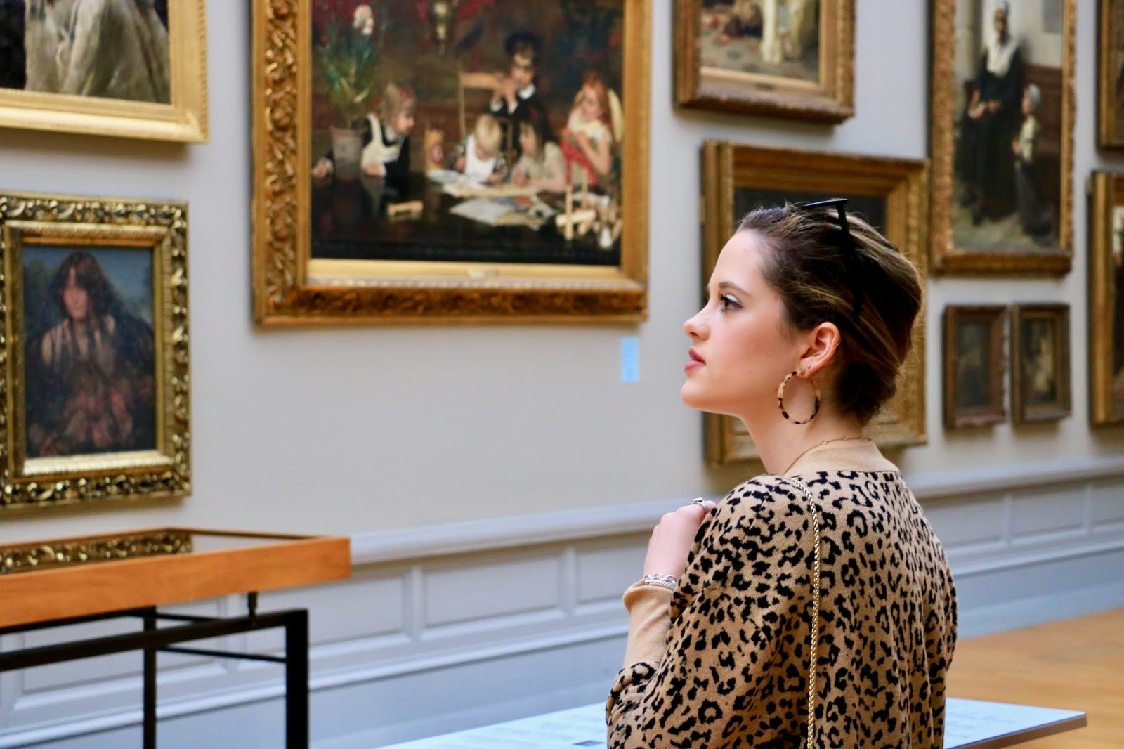 Fashion blogger Kathleen Harper at the MSK art museum in Ghent, Belgium