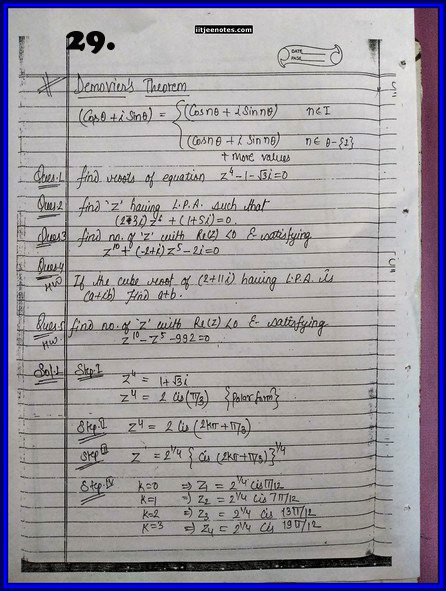 IITJEE Competition Notes On Complex Number 5