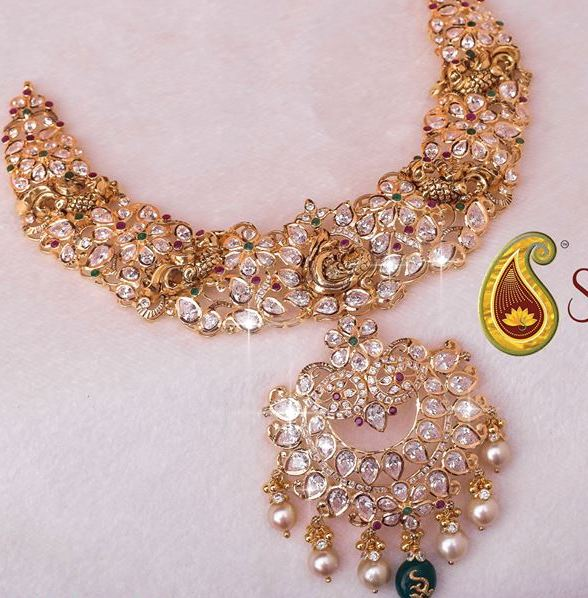 """Pachi work necklaces from-swarnsri jewellers"""