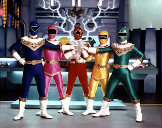Power Rangers Zeo Rocky Adam Tommy Kat Tanya Red Yellow Green Blue Pink