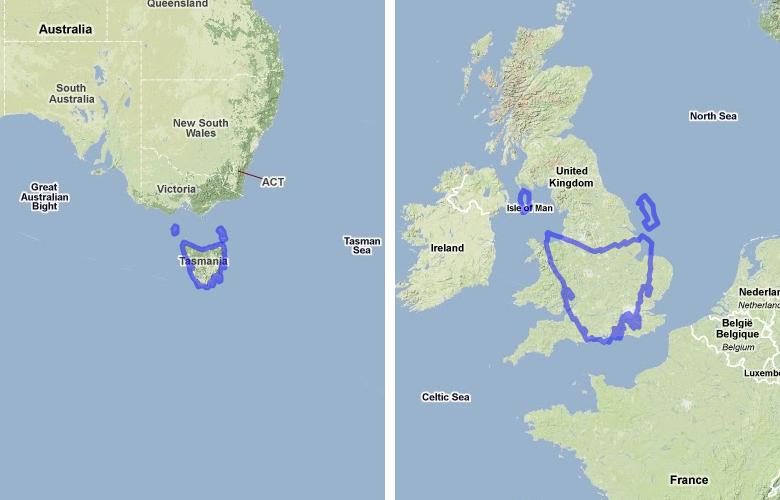 Australia Uk Map Comparison.Australia Vs Uk Etc Size Comparison