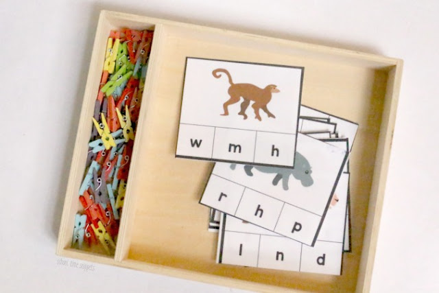 Zoo Animal Phonics Printable