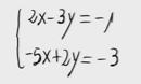 Sistema lineal de dos ecuaciones y dos incognitas. (Igualación)