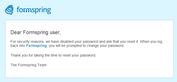 Millions of Passwords leaked from Social Site Formspring