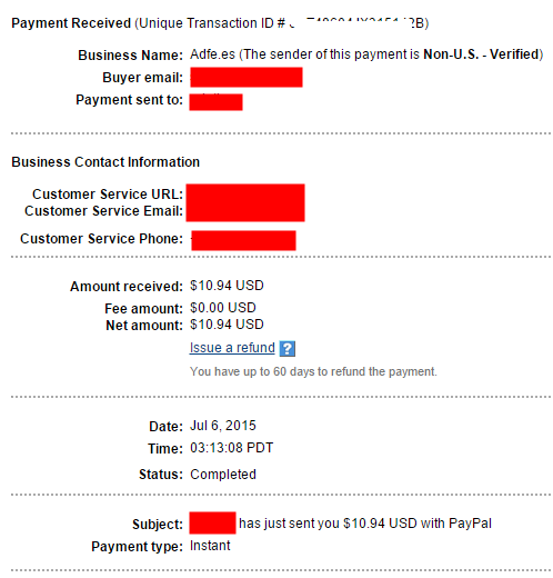 Payment Proof Link Shortner