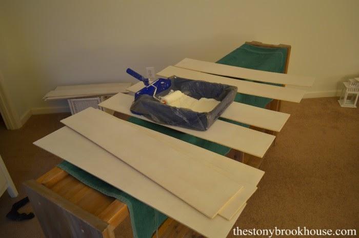 Painting shiplap board