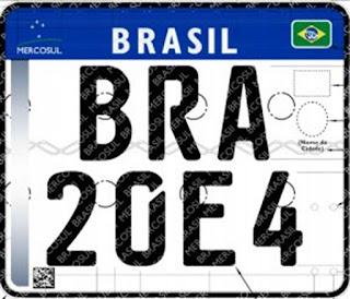 Placas de veículos devem ter padrão Mercosul; veja como será a mudança