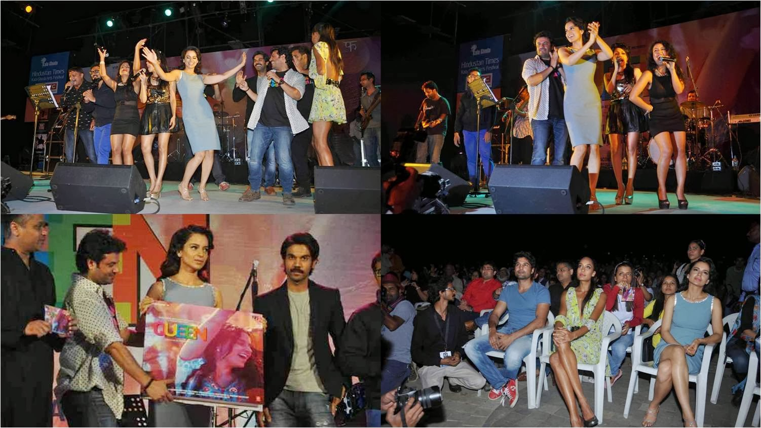 Kangana Ranaut dancing and enjoying with team at Queen music launch event