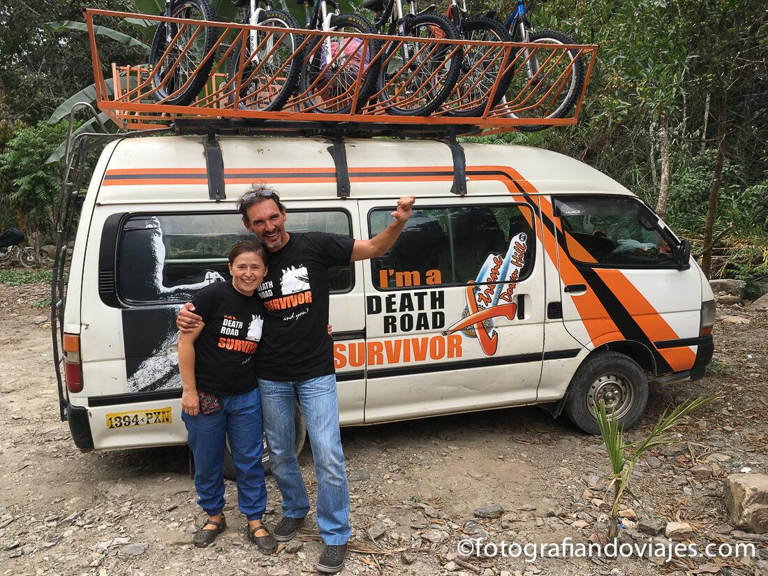 Carretera de la muerte en bicicleta