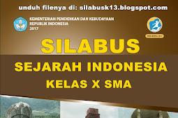 Silabus Sejarah Indonesia Kelas 10 Sma Kurikulum 2013 Revisi 2017
