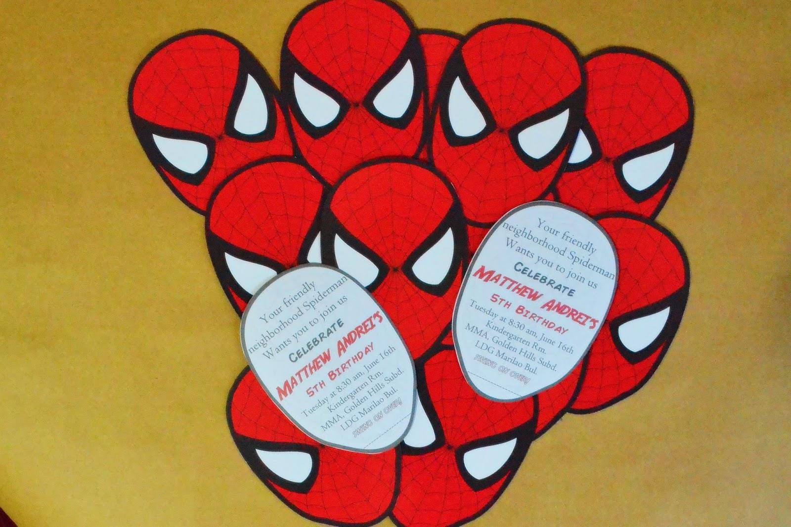 Diy spideman invitation diy spiderman invitation solutioingenieria Gallery