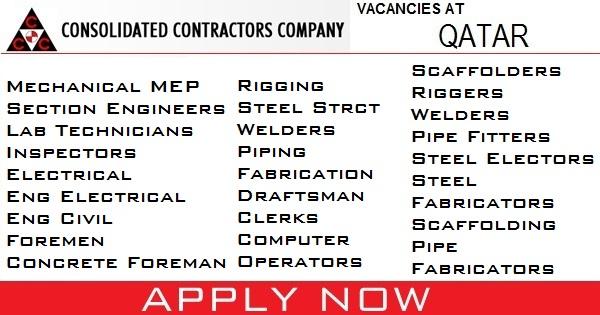 Consolidated Contractors Company Jobs - Gulf Job Vacancies