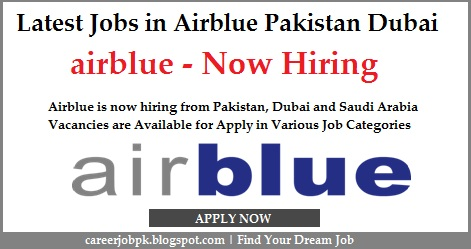 Latest jobs in Airblue Pakistan & Dubai