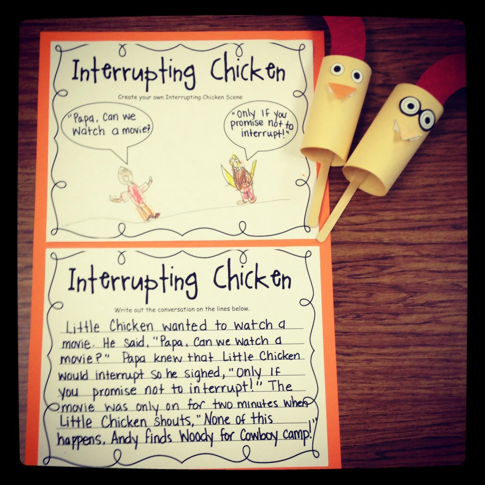 Fourth Grade Teacher Lady Interrupting Chicken