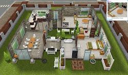 scandinavian sims freeplay houses play plans floor modern sim building scandinavia rustic deck front