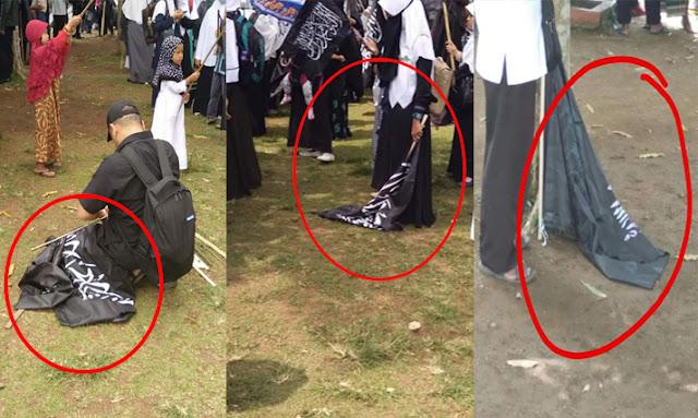 Miris, Aksi Demo Bela Tauhid Diwarnai dengan Penistaan Bendera Bertuliskan Tauhid
