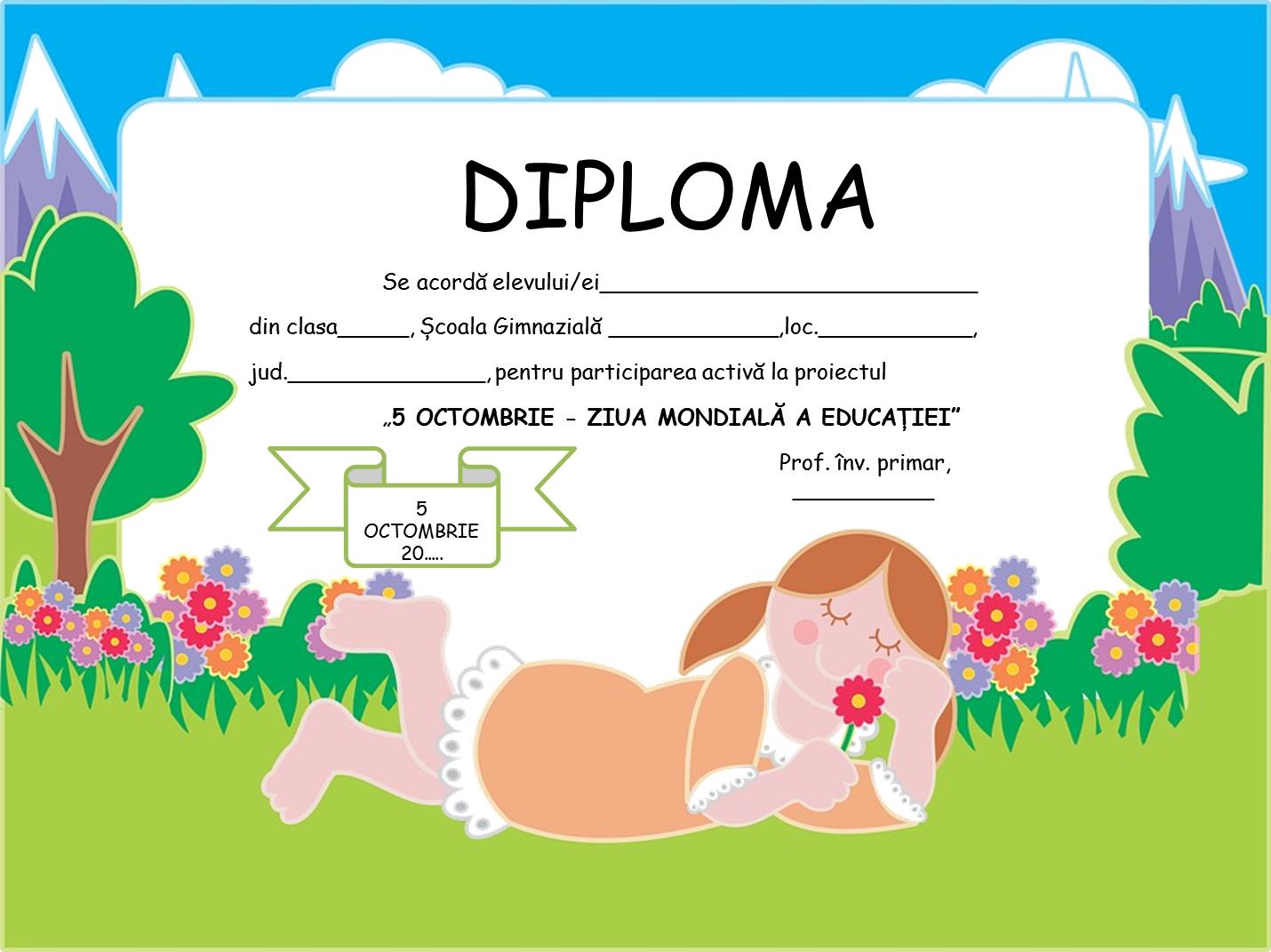 Diplome pentru Ziua Mondială a Educației