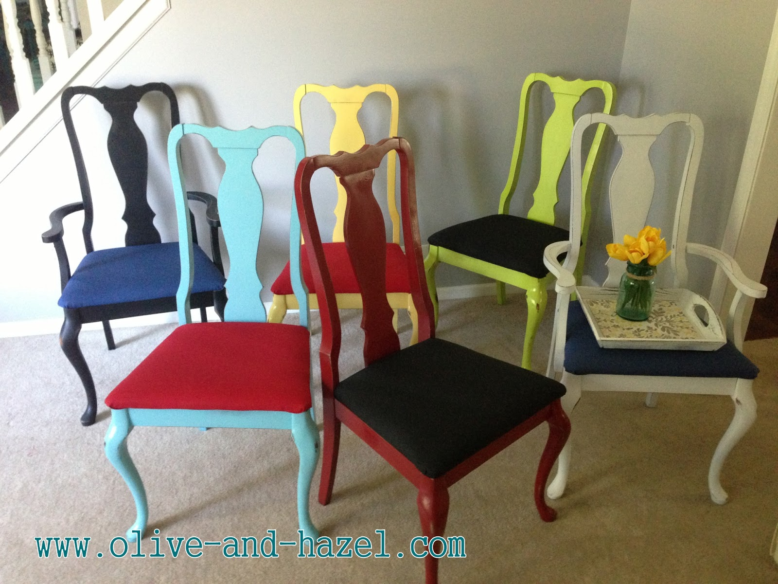 Olive Hazel Decor Co Multi Colored Custom Chairs