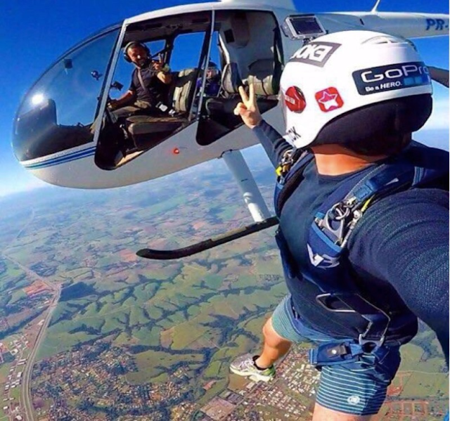 Jump from the Sky Selfie