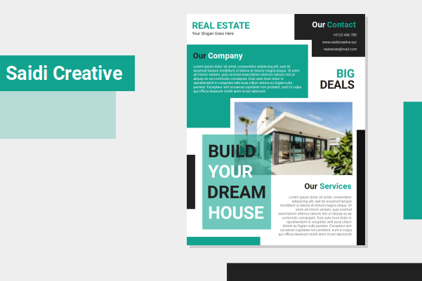 Real Estate Flyer Template Free Download on Microsoft Word File
