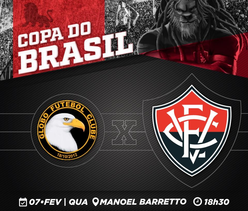 Assista Globo-RN x Vitória pela Copa do Brasil ao vivo HD 1