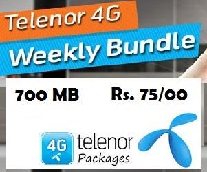 Telenor4G Weekly Internet Bundle