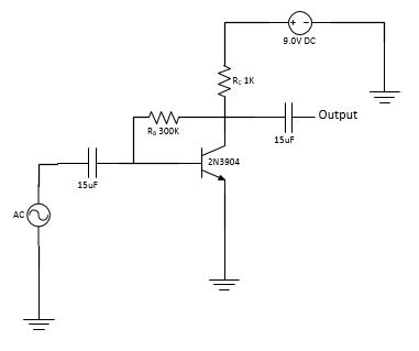 Common Emitter Amplifier w/Collector-Feedback Biasing