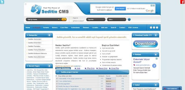 Php Seditio CMS Portal - Forum Scripti - Videolu Kurulum