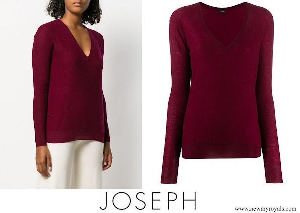 Meghan Markle wore JOSEPH Deep V-neck Pullover