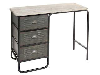 mesa rustica forja escritorio