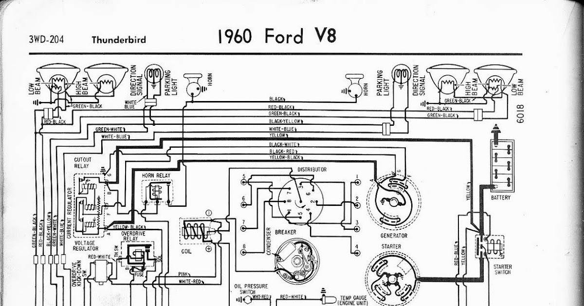 Free Auto Wiring Diagram: 1960 Ford V8 Thunderbird Wiring