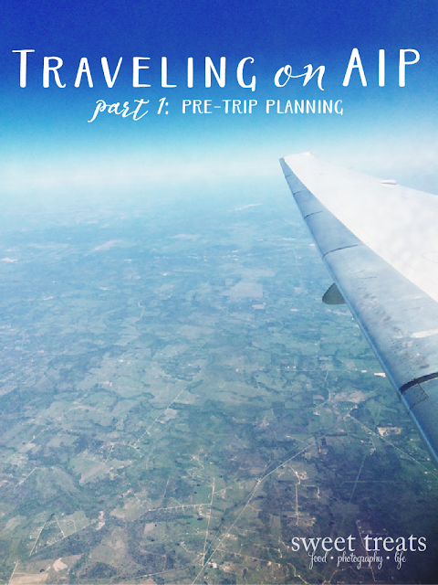 Traveling on AIP part 1: pre-trip planning