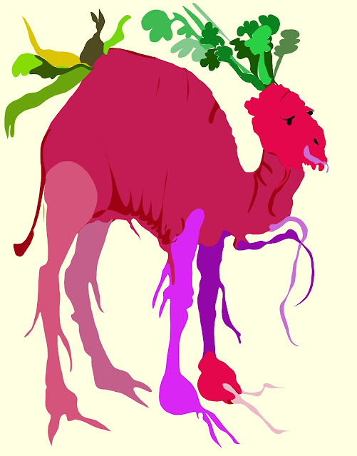 Picture of a camel and radish chromosplice. It's rad.
