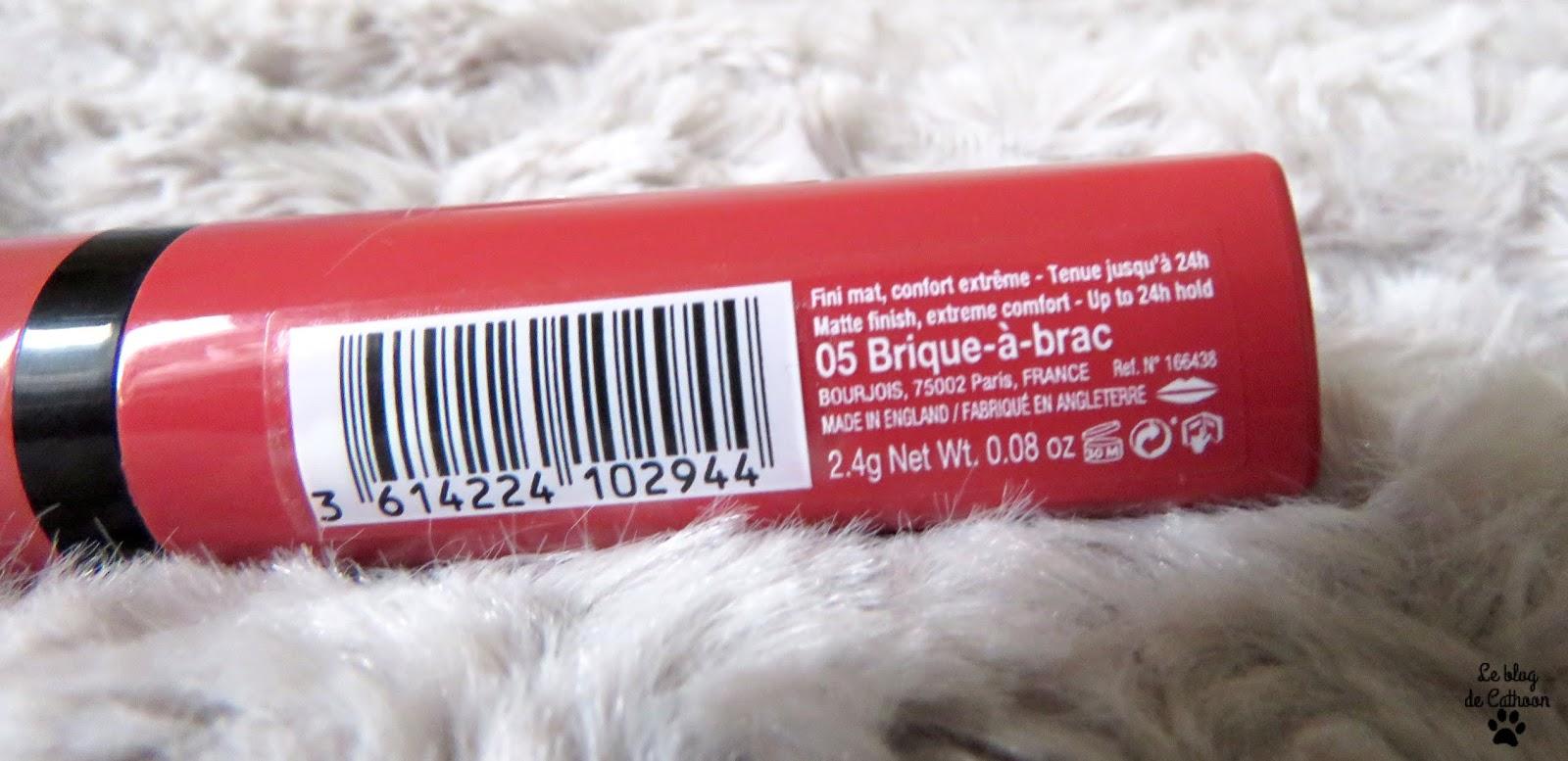 Rouge Velvet The Lipstick - 05 Brique-à-brac - Bourjois