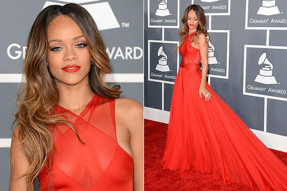 Grammys: BlingRex : Rihanna's Best Dressed Red Carpet Moments