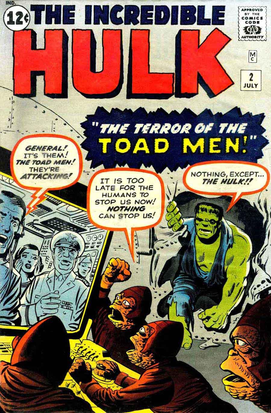 Incredible Hulk v1 #2 marvel comic book cover art by Jack Kirby & Steve Ditko