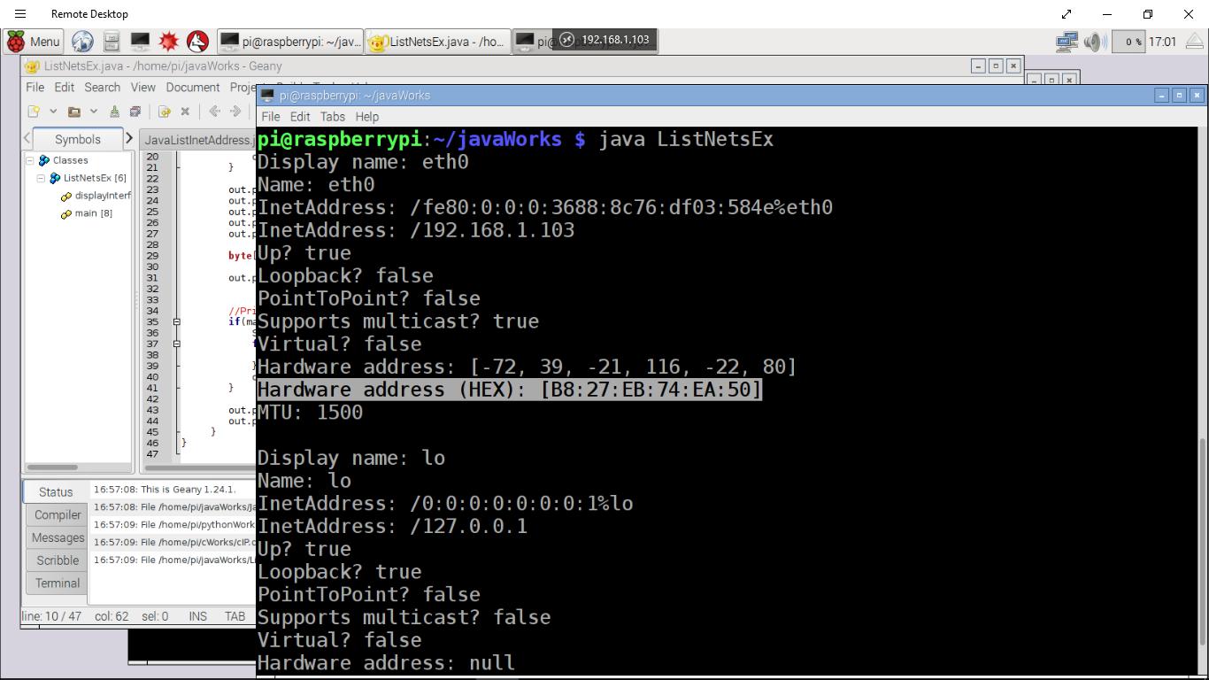 how to get mac address java code