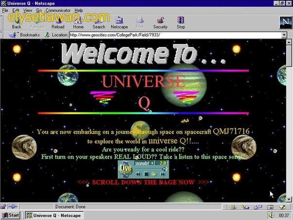 tampilan Geocities tahun  2000an