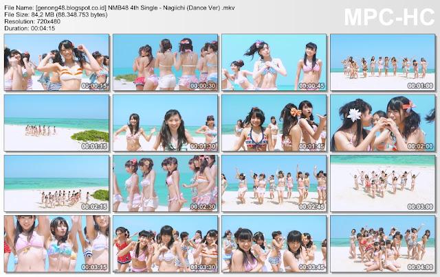 Download PV/MV NMB48 4th Single - Nagiichi  (Dance version)