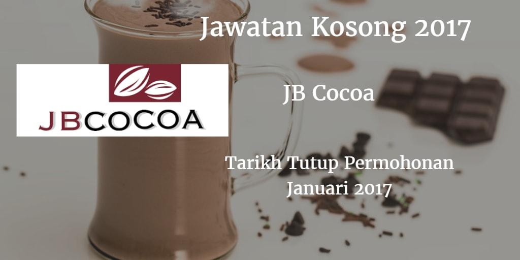 Jawatan Kosong JB Cocoa Januari 2017