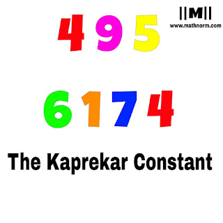 495 and 6174 are Magic Number Discovery by Magical India www.mathnorm.com
