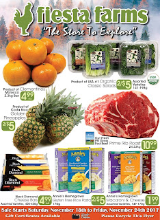 Fiesta Farms Flyer Weekly Specials valid November 18 - 24 , 2017