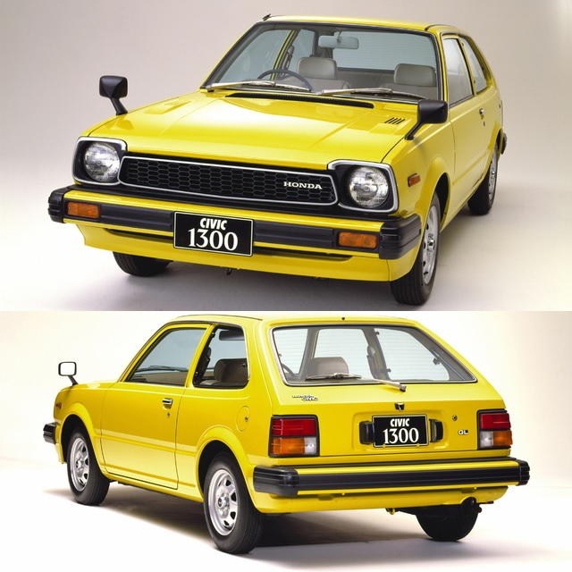 1979 Honda Civic 3-door Second Generation Yellow
