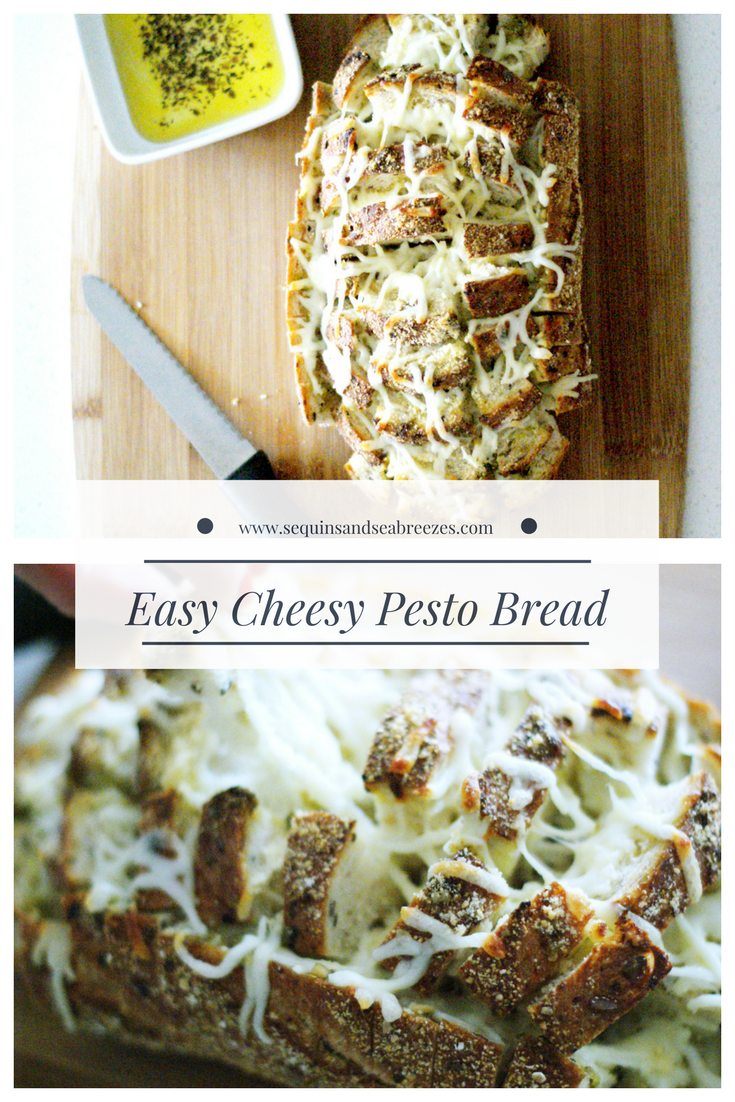 Easy Cheesy Pesto Bread