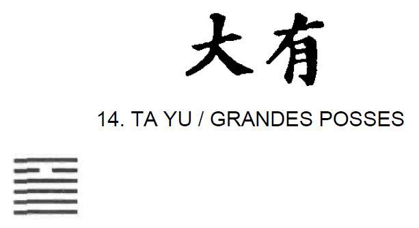 Imagem de Ta Yu / Grandes Posses, primeiro dos 64 hexagramas do I Ching, o Livro das Mutações