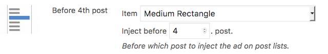 contoh daftar postingan