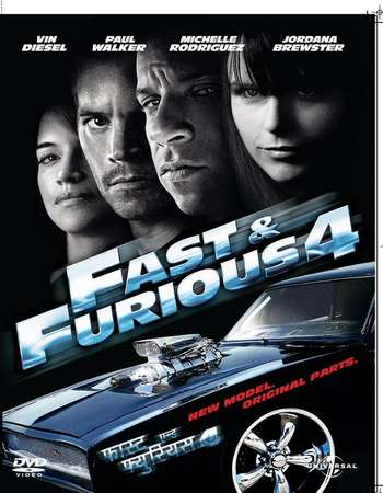 Poster Of Fast & Furious 2009 Dual Audio 450MB BRRip 720p HEVC Free Download Watch Online downloadhub.in