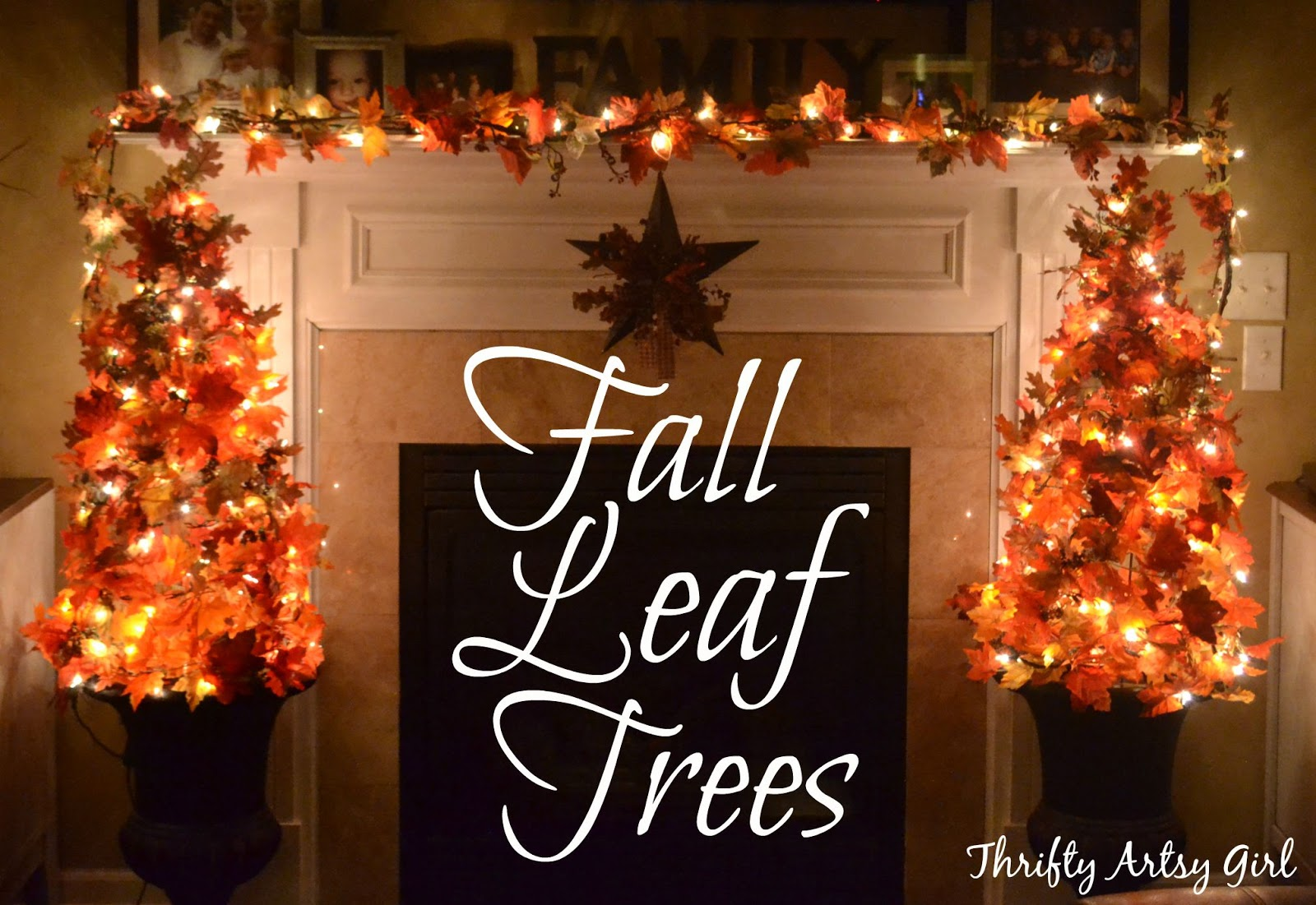 Fall Decor To Make Thrifty Artsy Girl Easy Diy Fall Leaves Potted Topiary