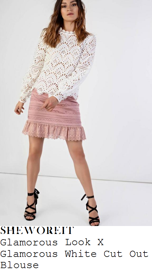 jessica-wright-glamorous-look-x-glamorous-bright-white-sheer-fan-and-stripe-pattern-cut-work-detail-long-sleeve-scalloped-edge-top